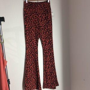 No boundaries Cheetah print flare pants